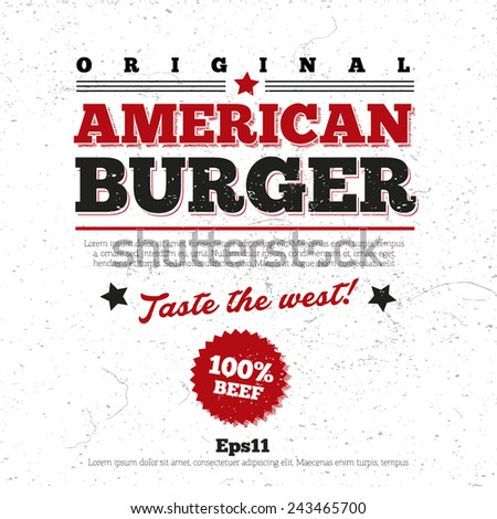 Menu, logo design, background for restaurant - stock vector