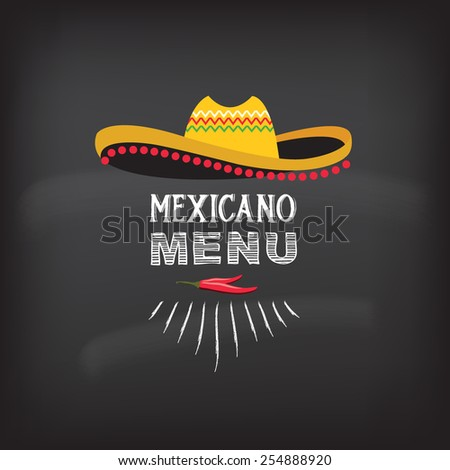 Menu mexican design.Vector illustration. - stock vector
