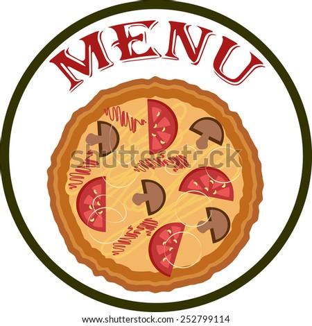 Menu - pizza,vector. - stock vector