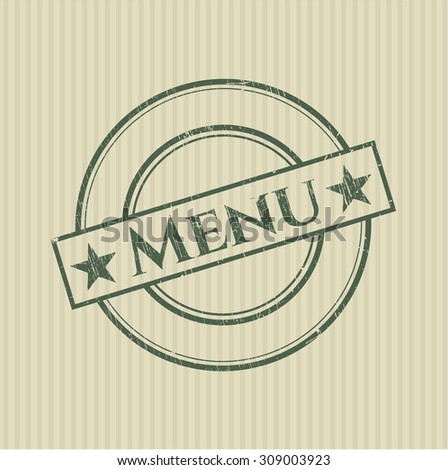 Menu rubber stamp
