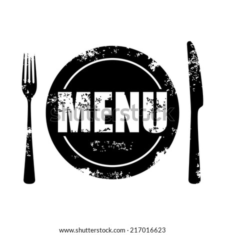 menu symbol with knife and fork