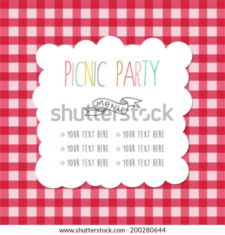 Picnic Invitation Stock Images RoyaltyFree Images  Vectors