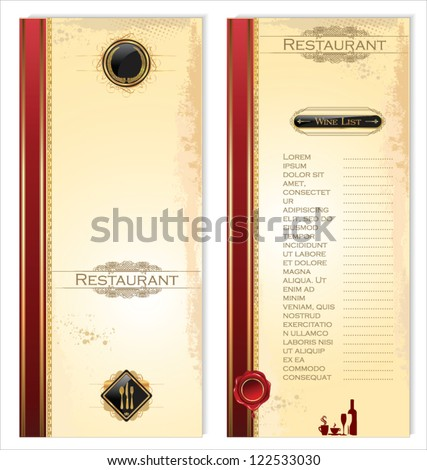 Menu template for restaurant and cafe - stock vector
