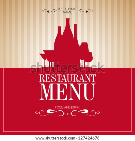Menu template for restaurant - vector card - stock vector