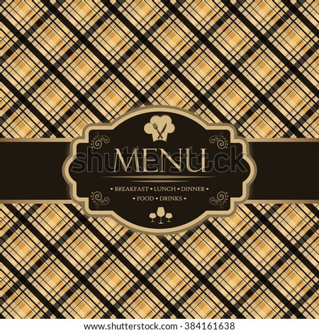 Menu template for restaurants, bars and beverages