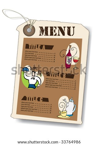 menu, templates set 13 - stock vector