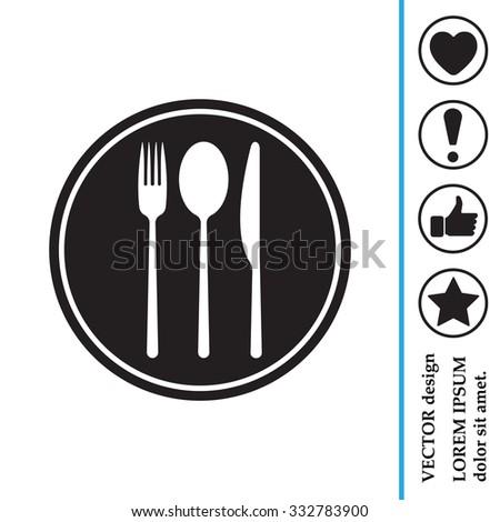 menu vector icon - stock vector