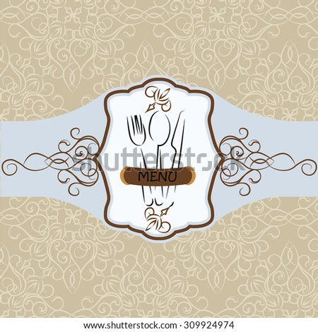Menu Vintage background with ornaments. Vector