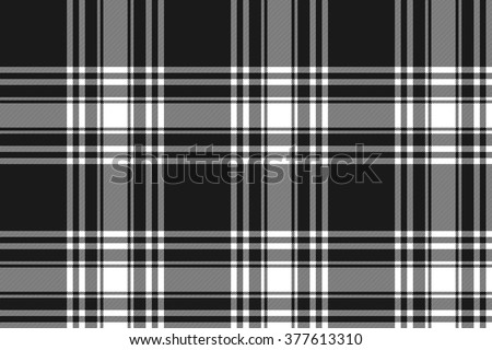 Menzies tartan black kilt fabric texture seamless pattern .Vector illustration. EPS 10. No transparency. No gradients. - stock vector