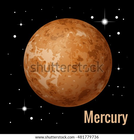 Mercury Smallest Innermost Planet Solar System Stock ...
