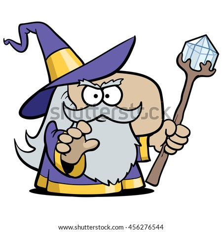 Merlin the Wizard - stock vector