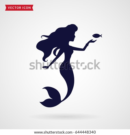 mermaid silhouette vector illustration