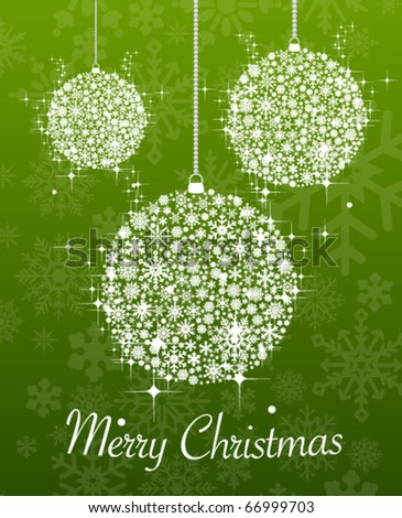 Merry christmas abstract decorations - stock vector