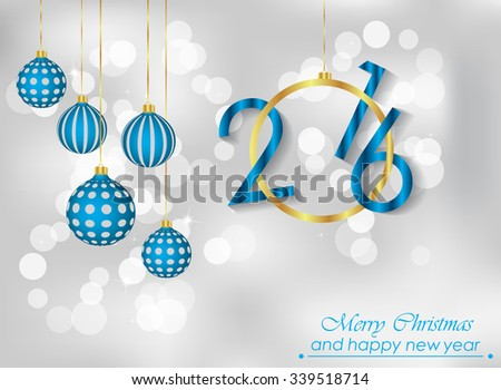 Merry Christmas and Happy new year background. - stock vector