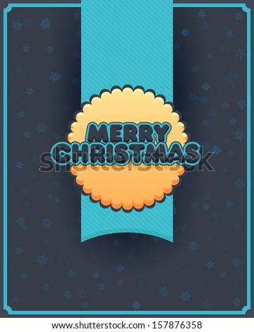 Merry Christmas and Happy New Year Concept Flyer Poster Vector Template