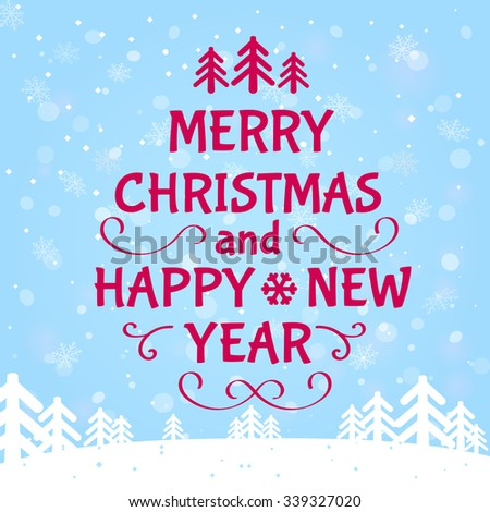 Merry christmas happy new year greeting stock vector 339327020 merry christmas and happy new year greeting card template vector illustration m4hsunfo