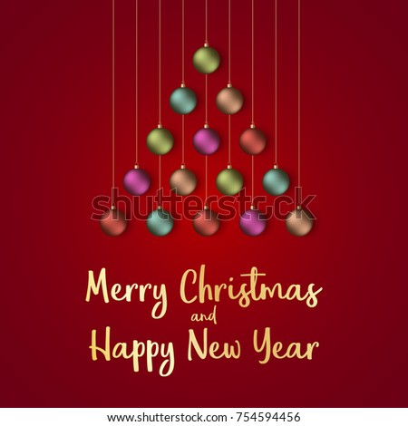 Merry christmas happy new year 2018 stock vector 754594456 merry christmas and happy new year 2018 greeting card vector illustration m4hsunfo