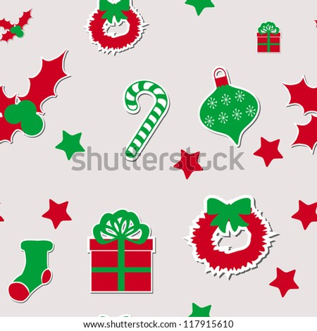 Merry Christmas and Happy New Year seamless pattern/Vector illustration