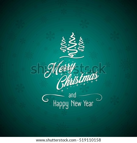 Merry christmas and happy new year sign on a snowflake pattern background