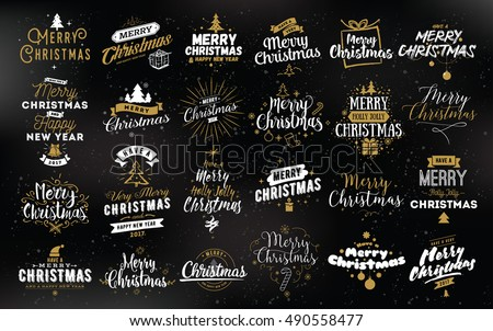 Merry Christmas, Happy New Year 2017 typography. Merry Christmas, Merry Christmas, Merry Christmas text, Merry Christmas. Merry Christmas,  Merry Christmas, Merry Christmas, Merry Christmas, Christmas