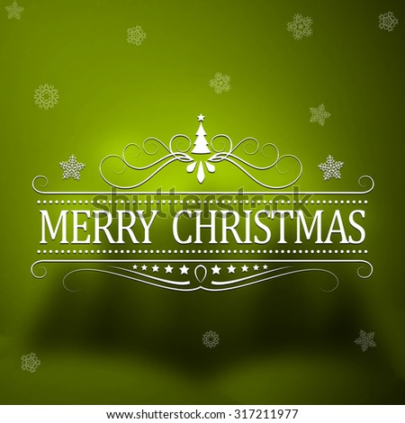 Merry Christmas And Happy New Year Vintage Background With Typography. Vector illustration.