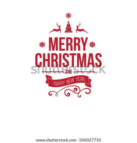 Merry christmas new year greetings badge stock vector royalty free merry christmas and new year greetings badge with colorful letters and simple clean design elements m4hsunfo