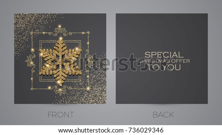 Merry christmas new year offer cards stock photo photo vector merry christmas and new year offer cards template business cards vip greetings accmission Choice Image