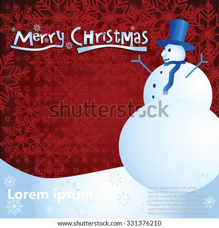 merry christmas background illustrator eps 10 multilayers