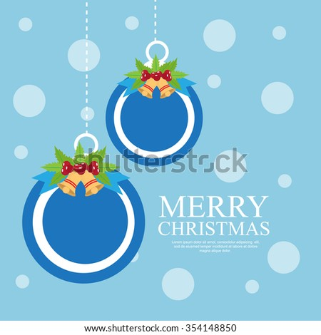 Merry Christmas Background.Vector illustration - stock vector