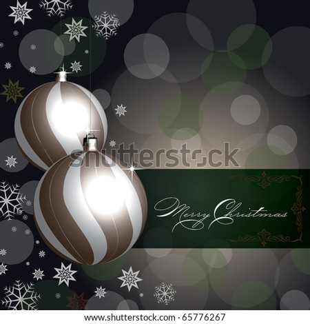 Merry Christmas background with baubles