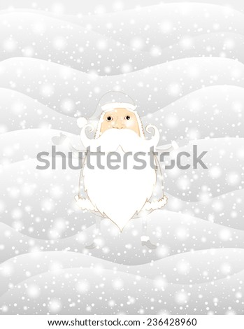 Merry Christmas Background with Santa. Vector Illustration  - stock vector