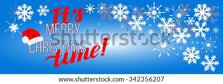 Merry Christmas background with snowflakes . Can be use as banner or poster.Vector illustration.