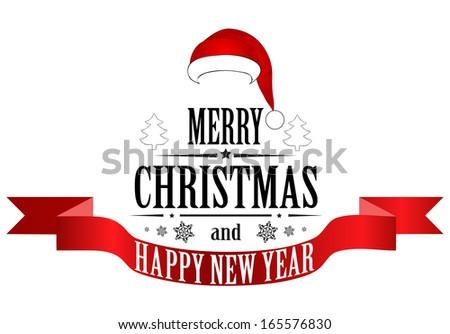 Merry Christmas Banner. Vector - stock vector
