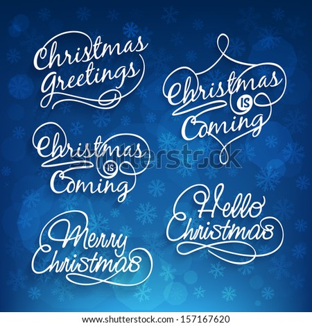 Merry Christmas calligraphy  - stock vector