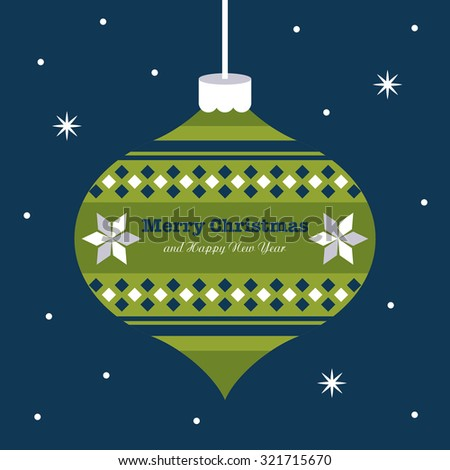 merry christmas card design. vector illustration - stock vector
