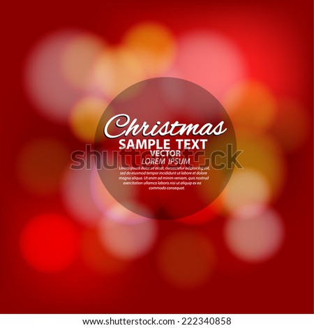 Merry Christmas Card - Editable EPS10 - stock vector