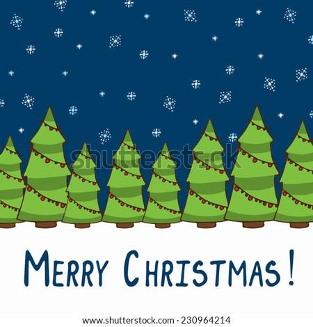 Merry christmas card, eps 8. - stock vector