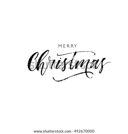 Modern Christmas Calligraphy Stock Images Royalty Free