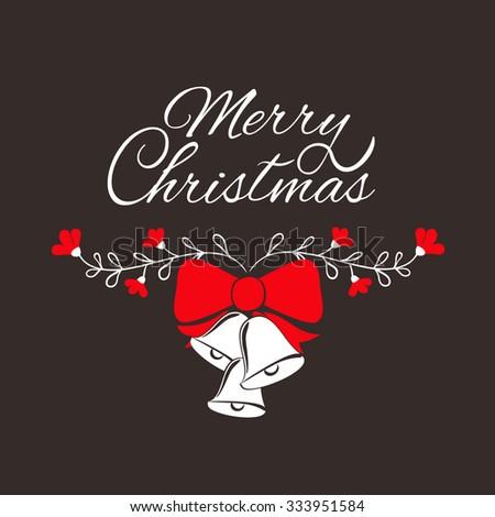 Merry Christmas card . Merry Christmas greeting card template.  - stock vector