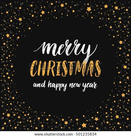 merry christmas card vector hand drawn stock vector royalty free 501235834 shutterstock - Merry Christmas Cards Images