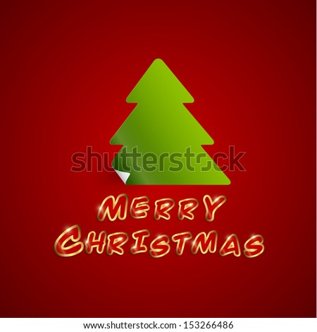 Merry Christmas Card, Vector Illustration.