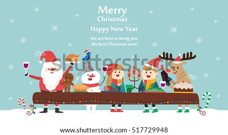 Merry Christmas card. vector illustration
