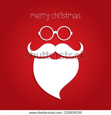 merry christmas card with santa claus - stock vector