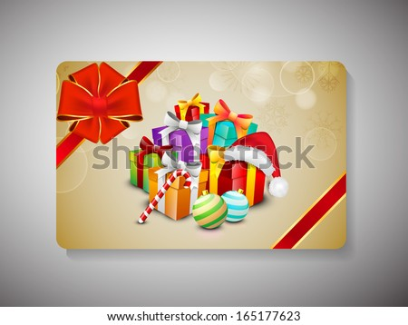 Merry Christmas celebration gift card.