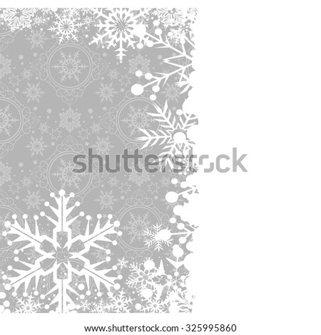 Merry Christmas, Christmas card, wallpaper background, Christmas day, holiday, christmas ornaments, cute background, grey color vector