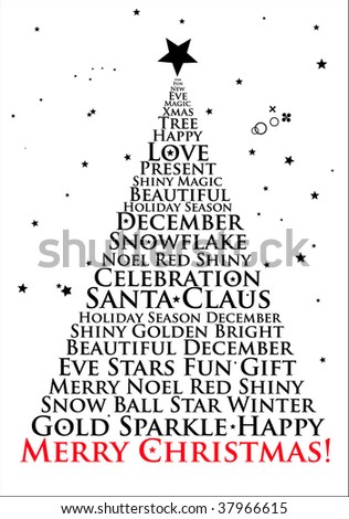 Merry Christmas! Christmas Tree Vector Design. - stock vector