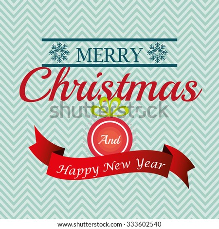 Merry christmas colorful card design, vector illustration graphic.