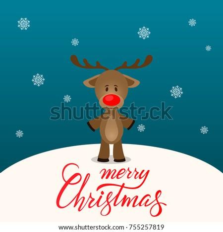 Merry christmas companion merry christmas postcard stock vector hd merry christmas companion merry christmas postcard cute deer postcard merry christmas greeting card m4hsunfo