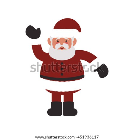 Merry Christmas concept represented by Santa cartoon icon. Isolated and flat illustration