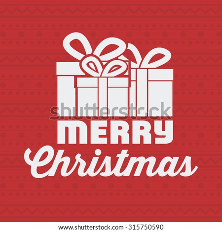 Merry Christmas concept with decoration icons design, vector illustration eps 10 - stock vector